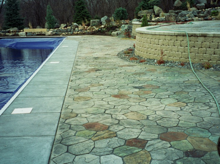 Driveways, Patios, Pool Decks And More. Stained; Stamped